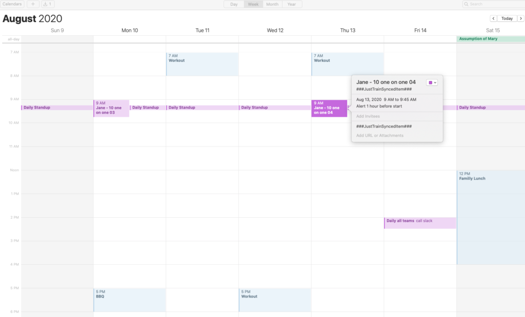 Personal Trainer scheduling App: Synchronize your calendar